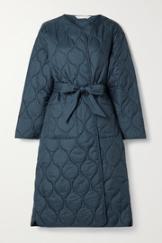 Barbour + ALEXACHUNG Martha belted quilted shell coat