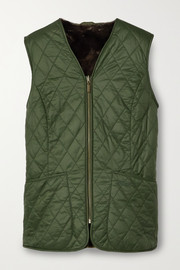 Barbour Hornbeam reversible quilted shell and faux fur vest