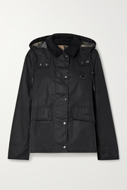 Barbour Avon corduroy-trimmed waxed-cotton jacket