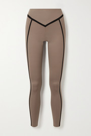 Ernest Leoty Corset paneled stretch leggings