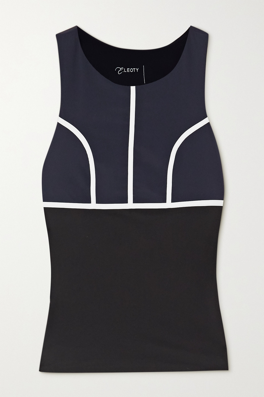 Ernest Leoty Eglantine piped stretch tank