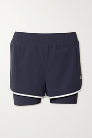 Ernest Leoty Fleur layered piped stretch shorts