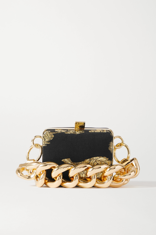 16ARLINGTON Ralphie mini metallic jacquard tote