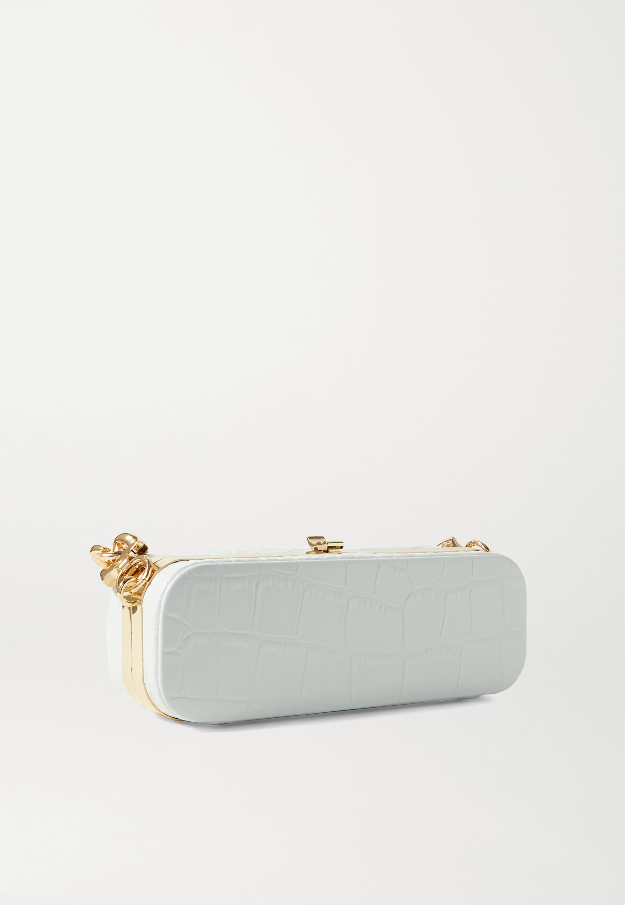 16ARLINGTON Frankie mini croc-effect leather clutch