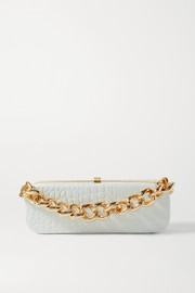 16ARLINGTON Frankie mini croc-effect leather clutch