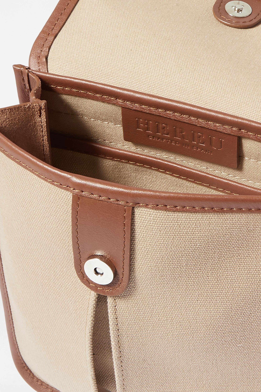 HEREU + Space for Giants Terra leather-trimmed organic cotton canvas shoulder bag