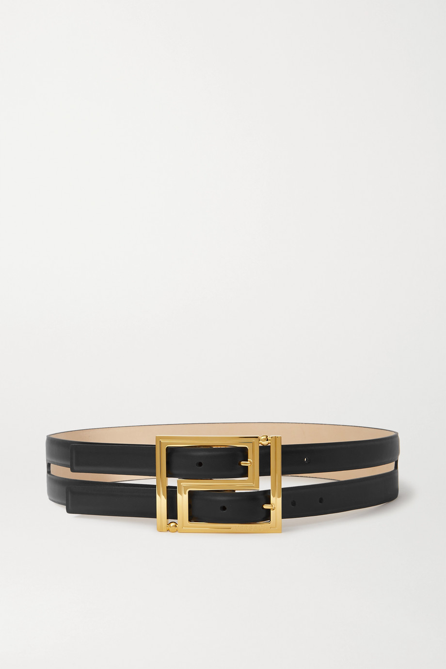 Versace Layered leather waist belt