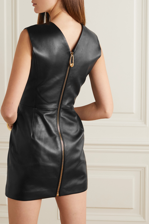 Versace Mini-robe en cuir
