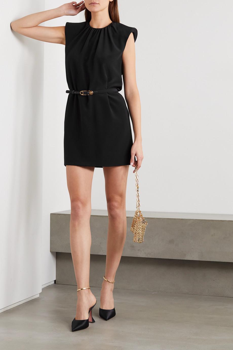 Versace Belted chiffon mini dress