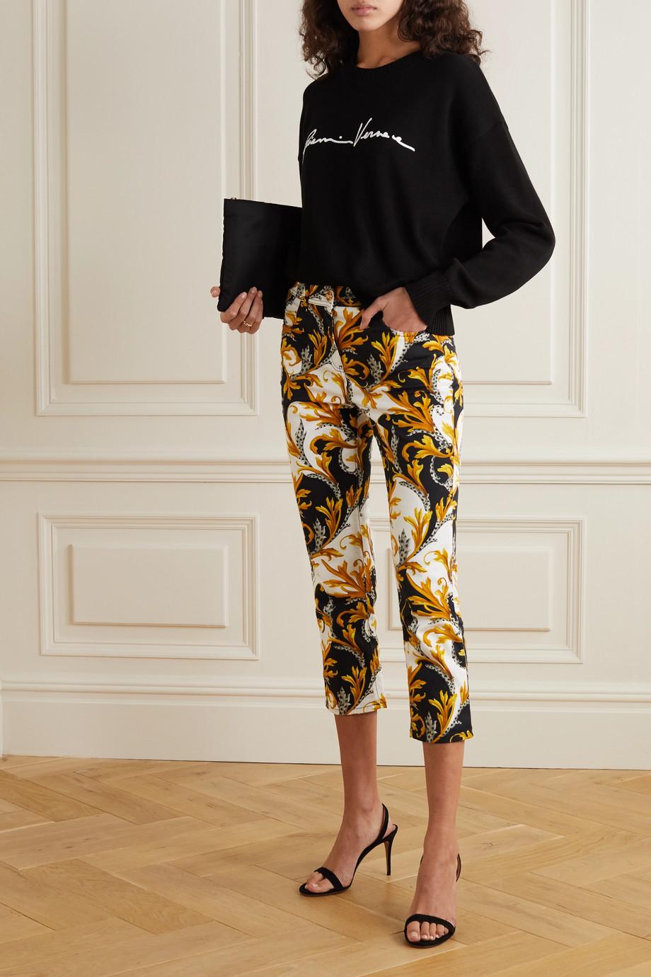 Versace 刺绣纯棉毛衣
