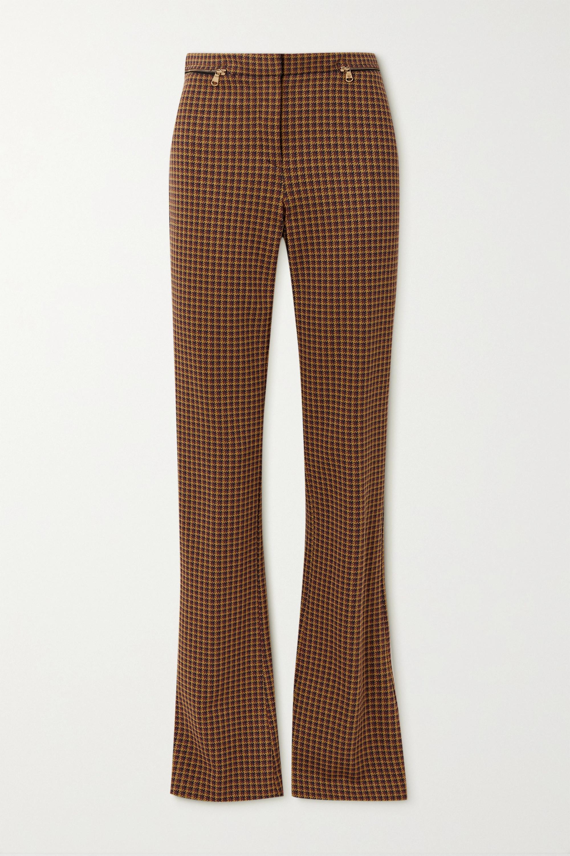 Versace Hose mit schmalem Bein aus kariertem Jersey