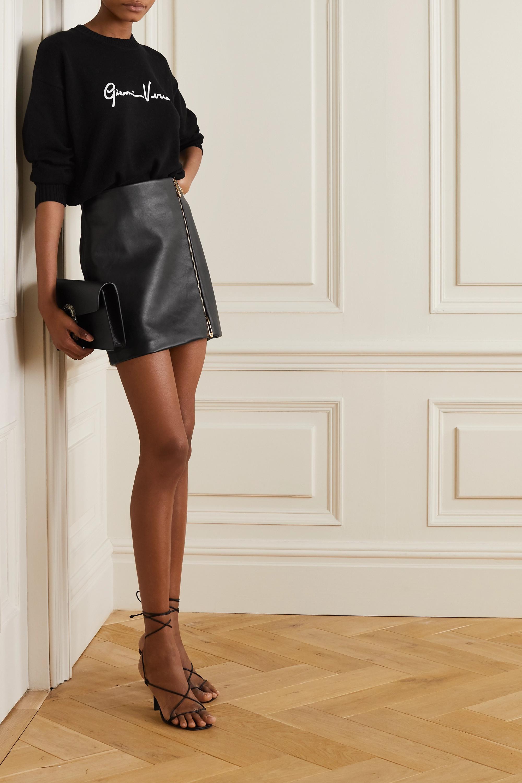 Versace Leather mini skirt