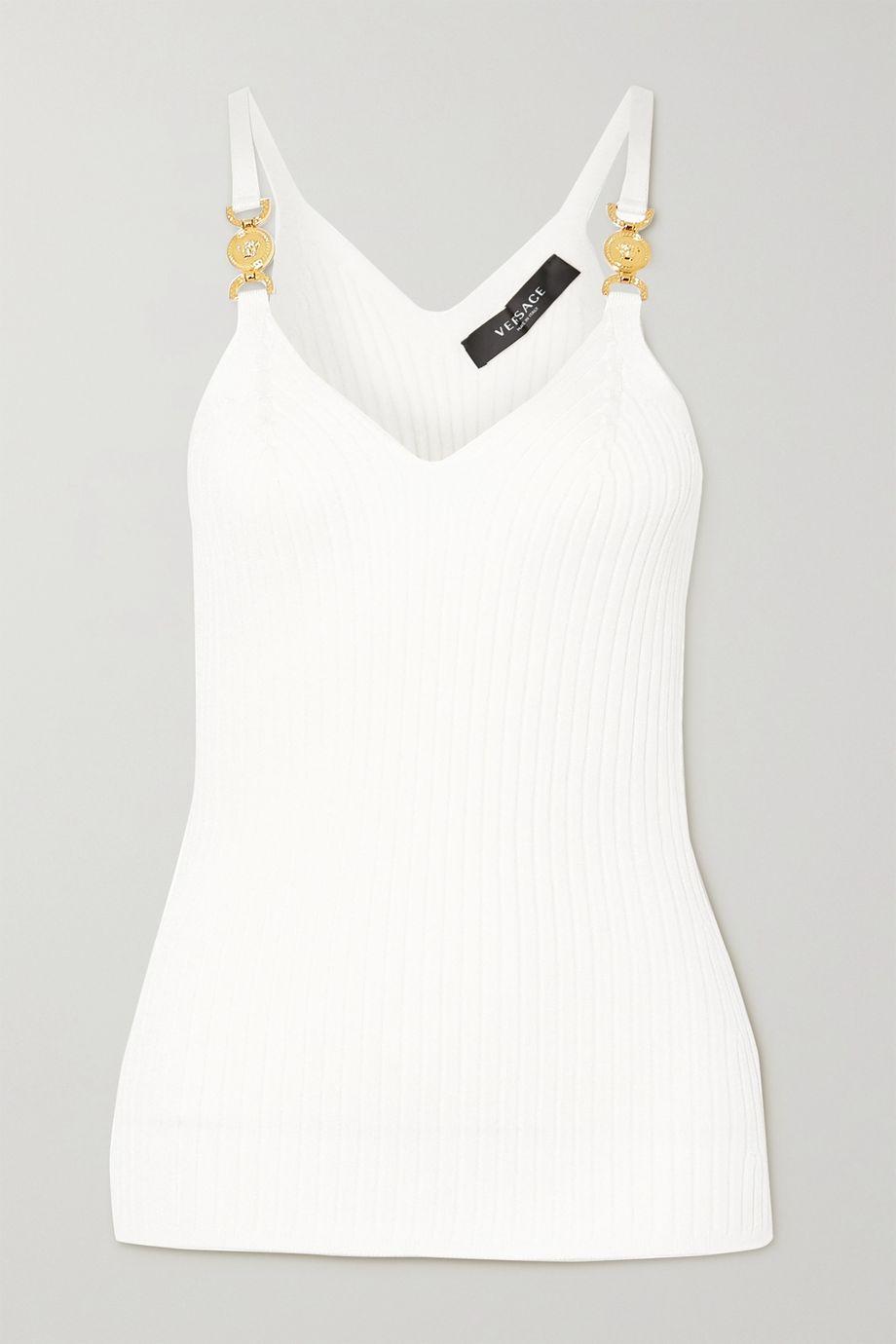 Versace 带缀饰罗纹针织吊带背心