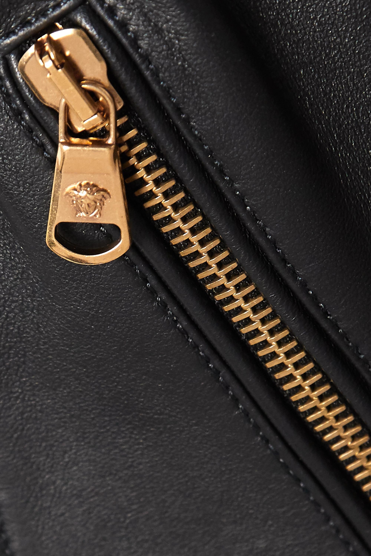 Versace Bustier aus Leder mit Reißverschlüssen