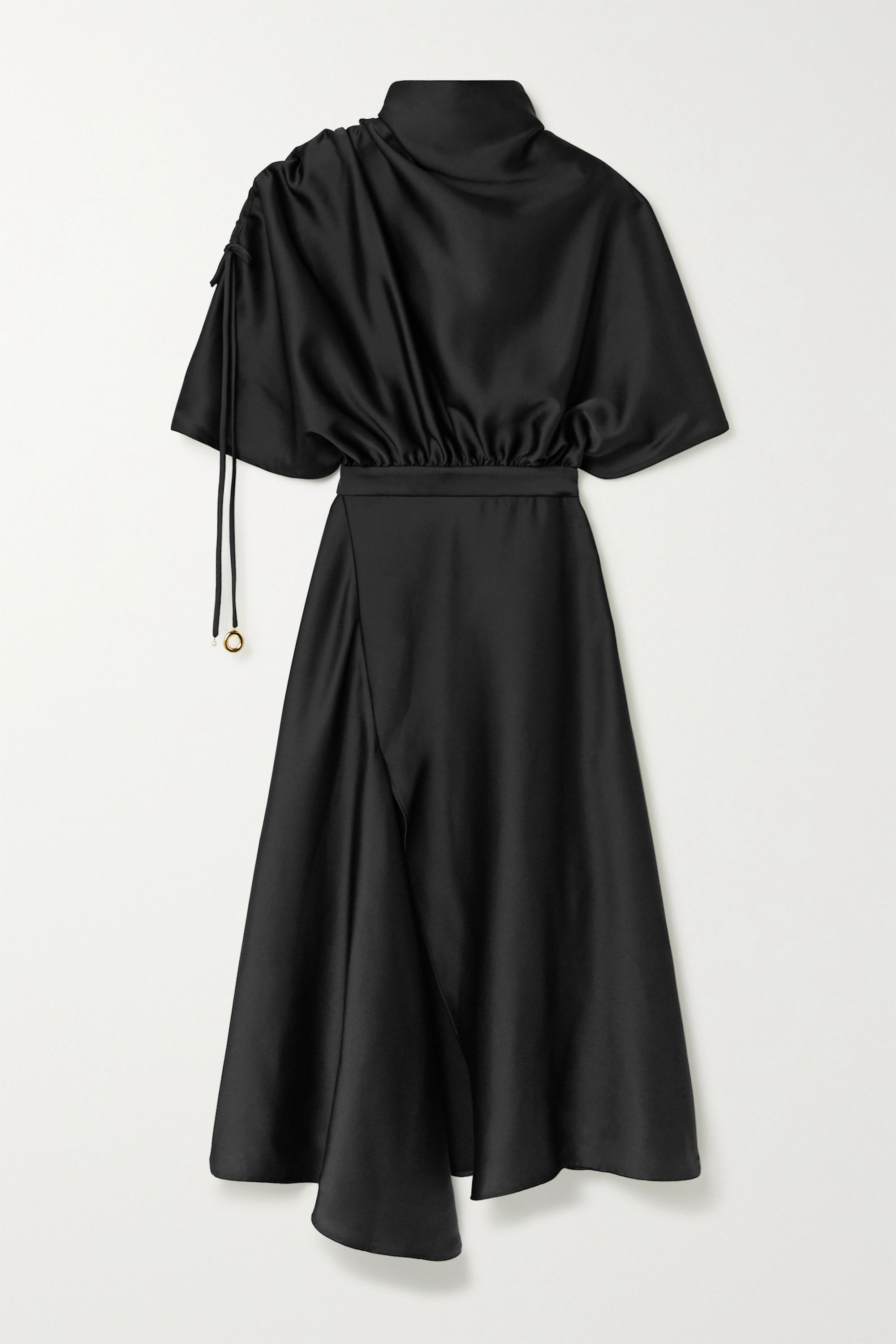 Ellery Santorini draped satin midi dress