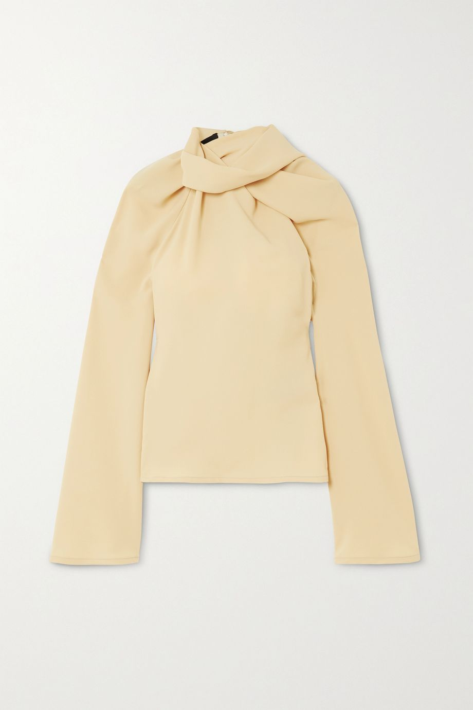 Ellery Le Plage gathered crepe top
