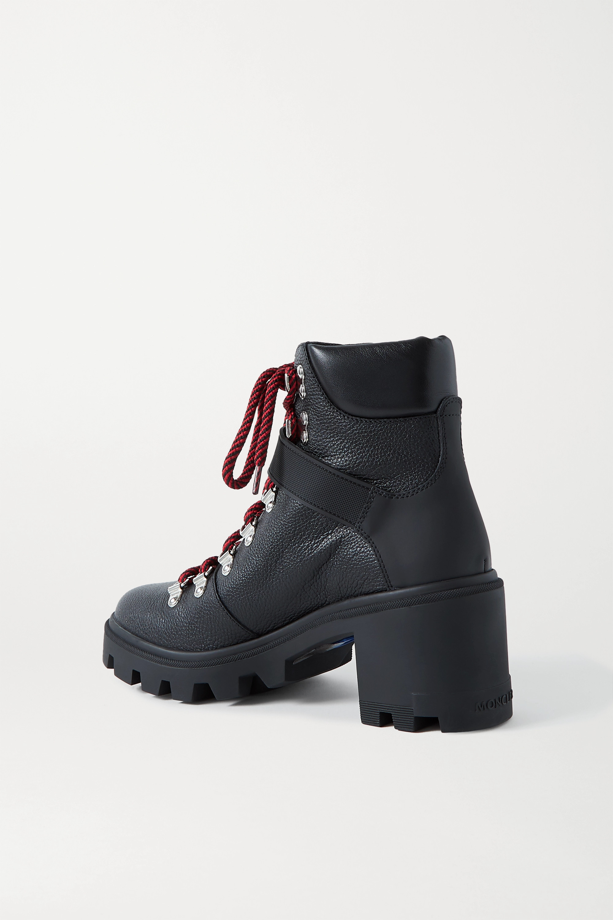 Moncler Carol rubber-trimmed textured-leather ankle boots