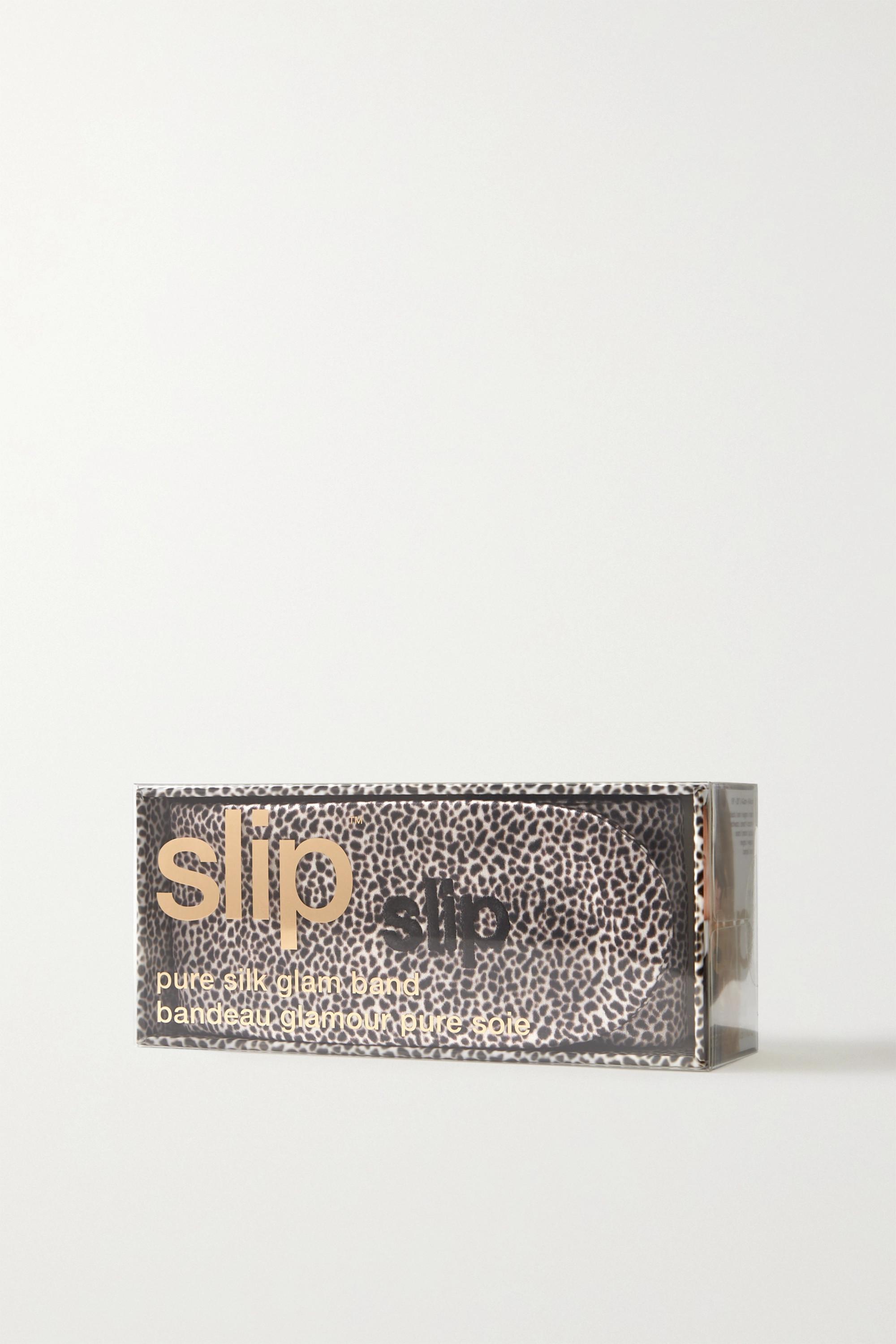 Slip The Glam Band leopard-print mulberry silk headband