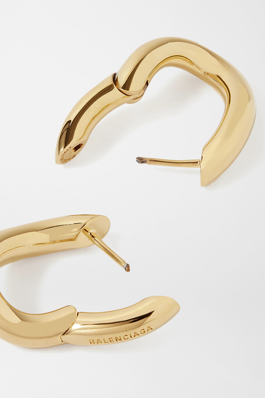 Balenciaga Loop XS gold-tone hoop earrings