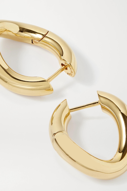 Balenciaga Boucles d'oreilles dorées Loop XS