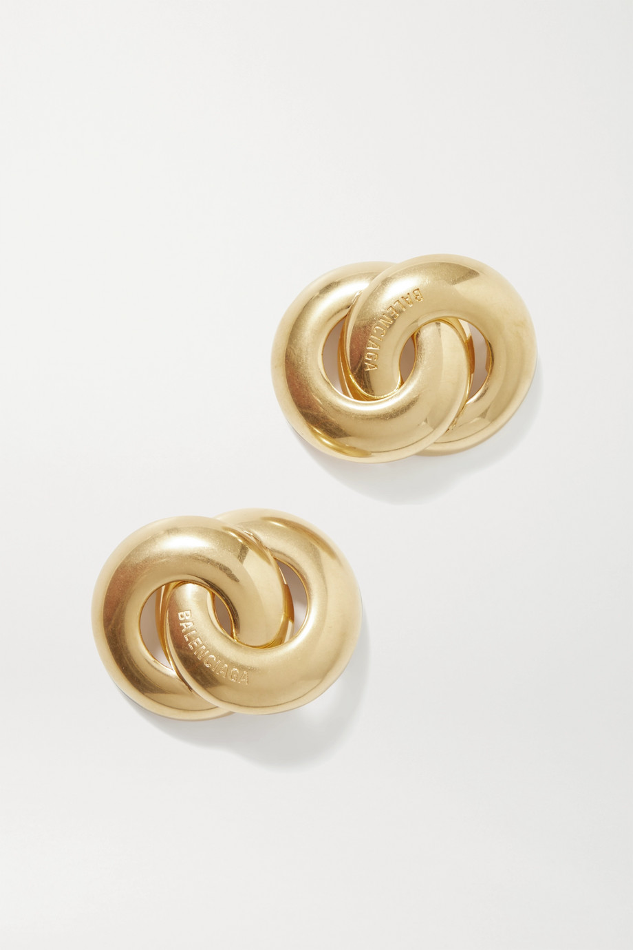 Balenciaga Twin goldfarbene Ohrringe