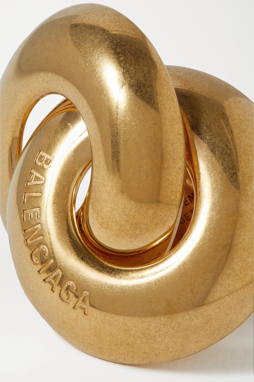 Balenciaga Twin goldfarbener Ring