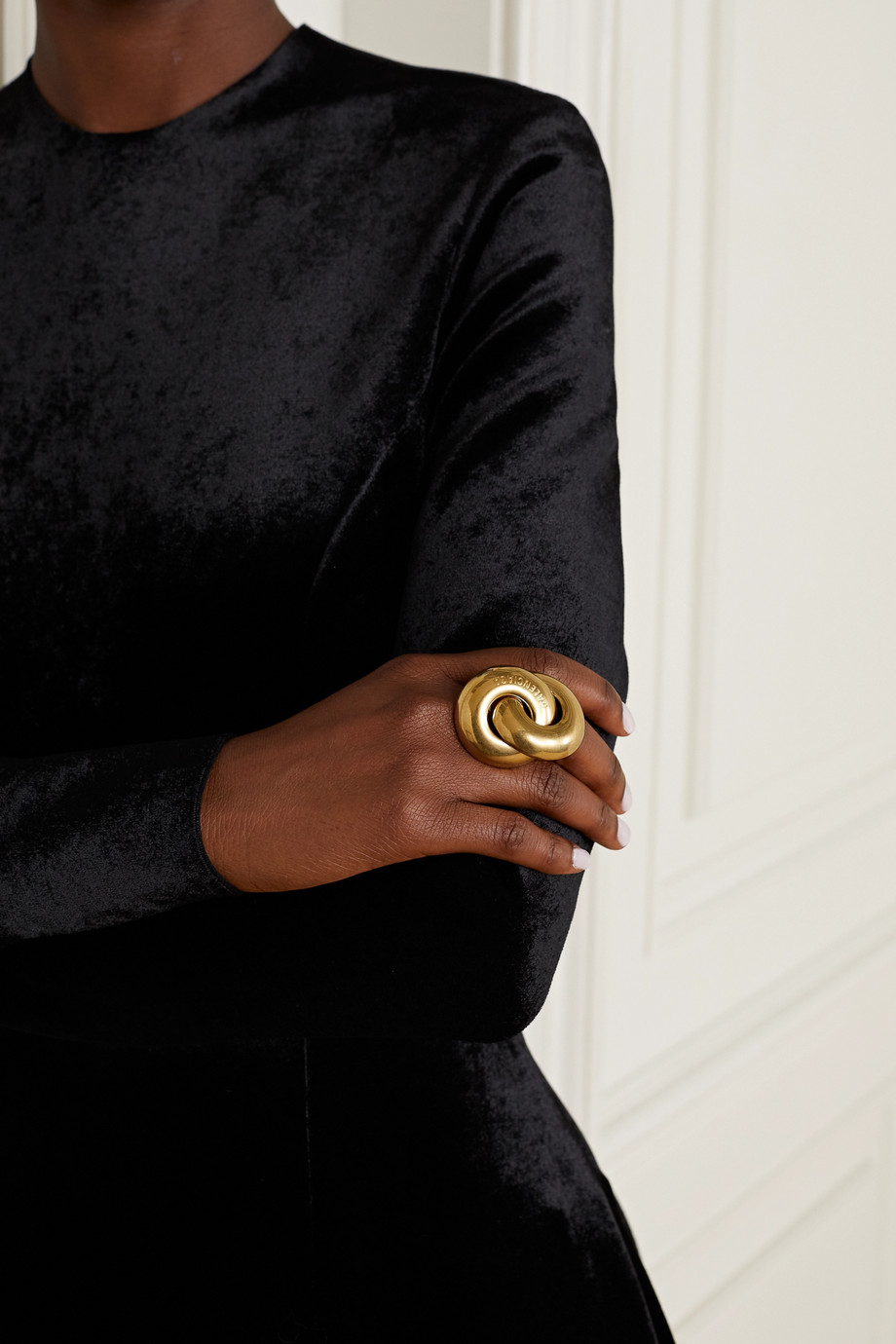 Balenciaga Twin gold-tone ring