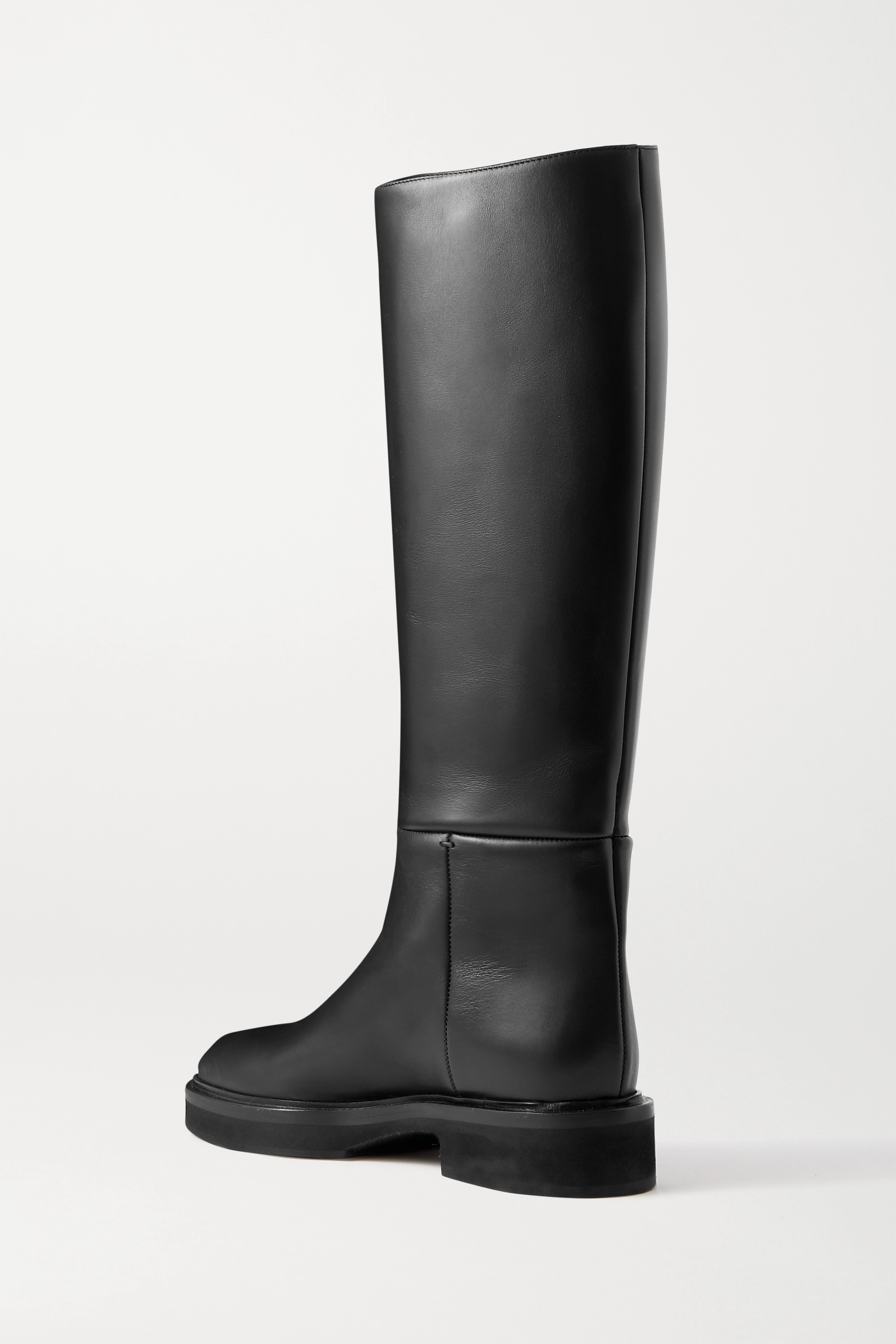 Khaite Derby leather knee boots