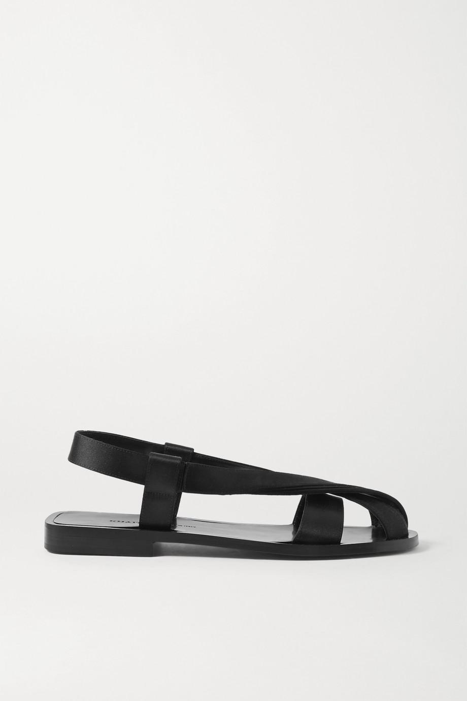 Khaite Satin slingback sandals