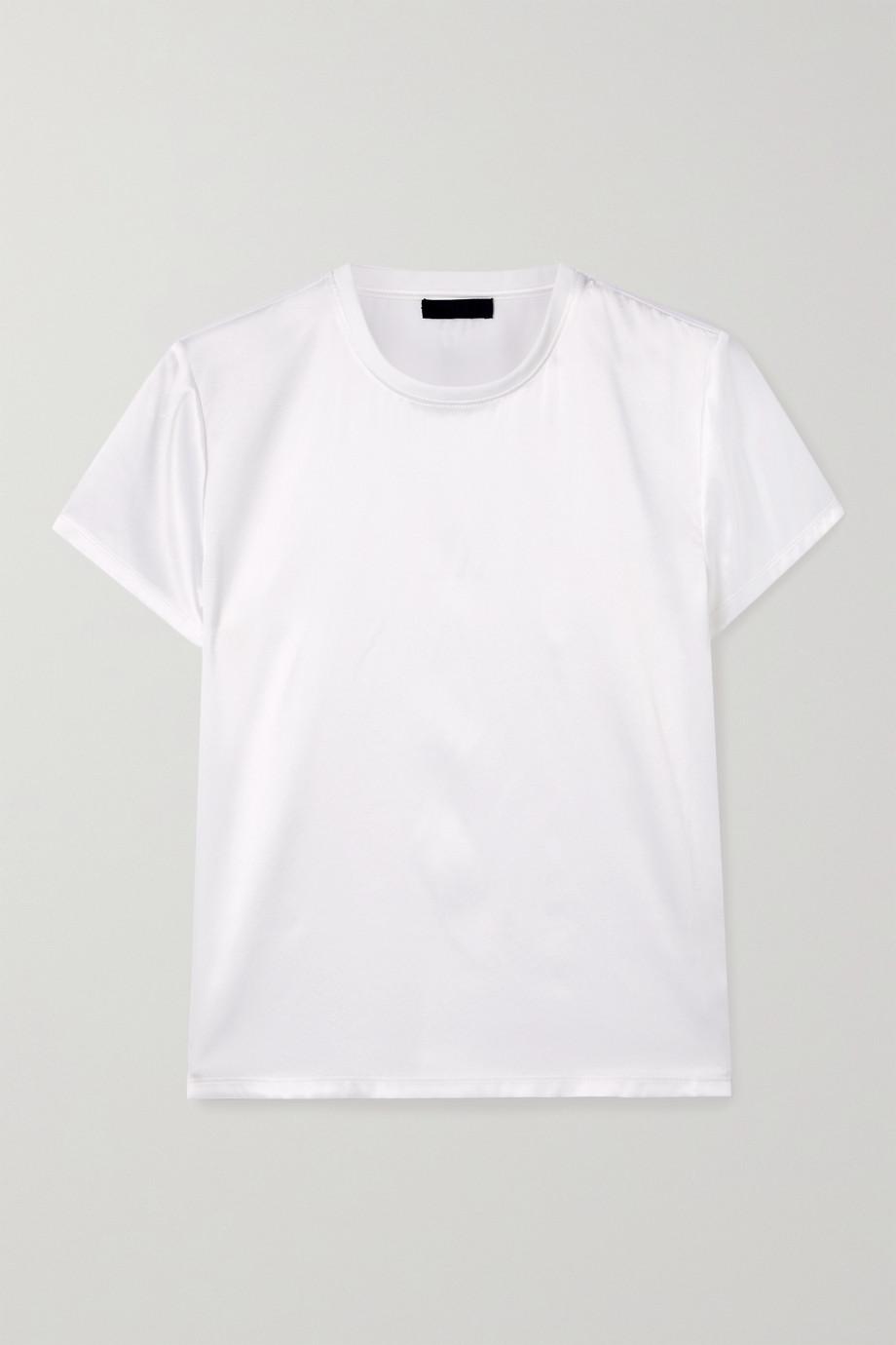 ATM Anthony Thomas Melillo Silk-blend satin T-shirt