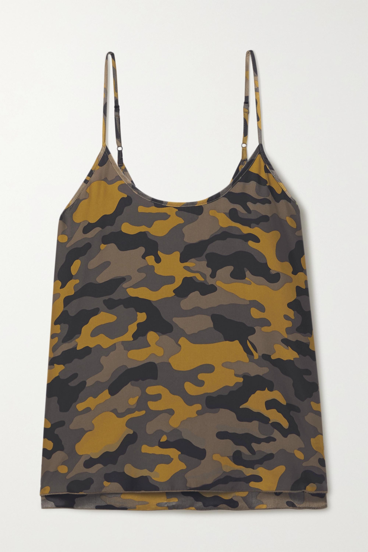 ATM Anthony Thomas Melillo Camouflage-print silk camisole