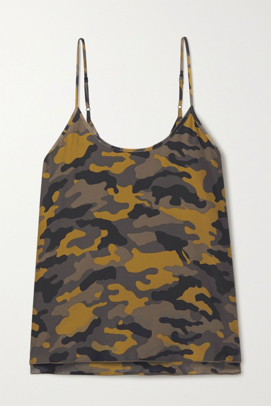 ATM Anthony Thomas Melillo Top aus Seide mit Camouflage-Print