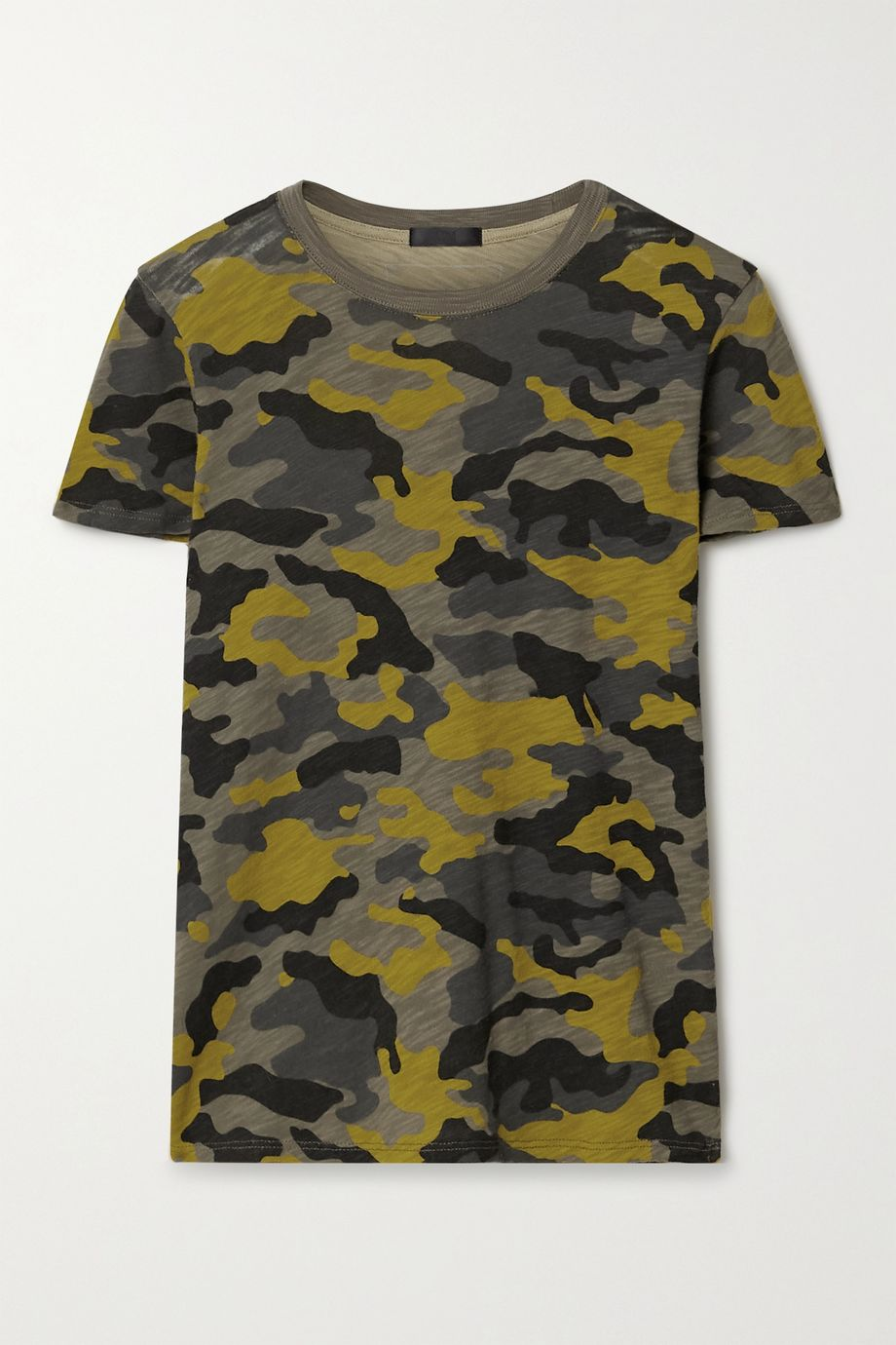 ATM Anthony Thomas Melillo Schoolboy T-Shirt aus Baumwoll-Jersey mit Camouflage-Print und Flammgarneffekt