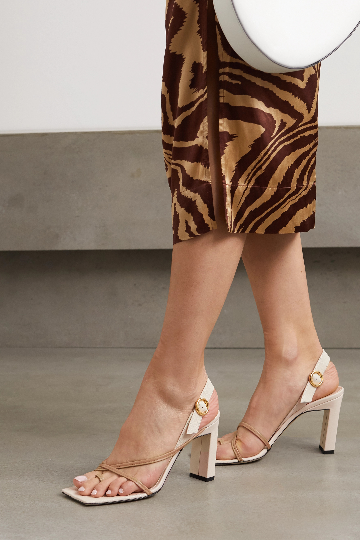 Wandler Elza two-tone leather slingback sandals