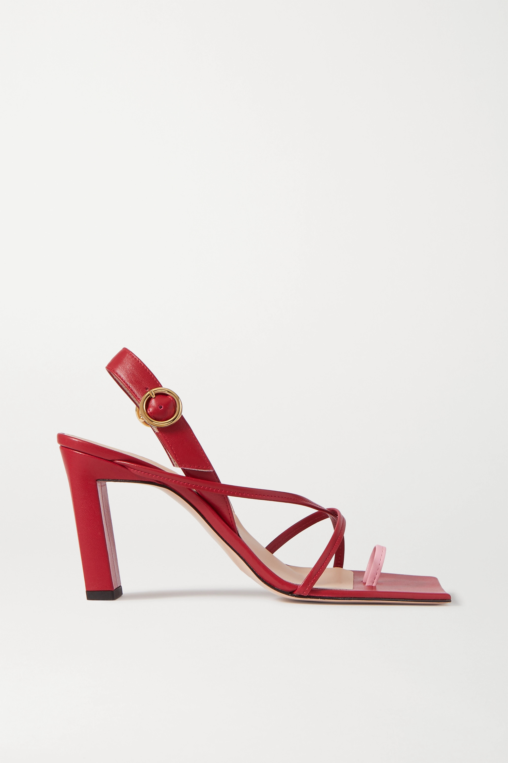 Wandler Elza two-tone leather slingback sandals