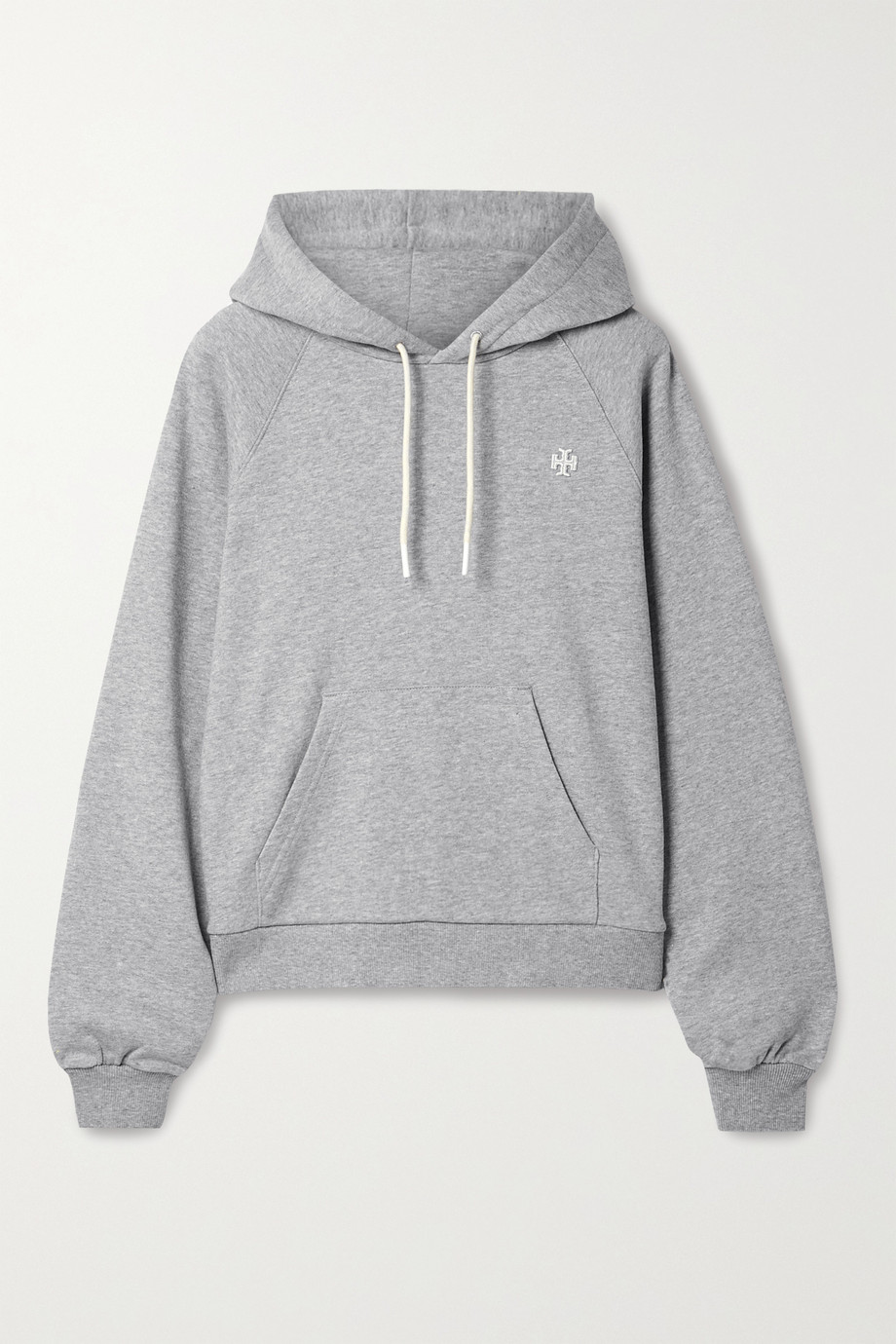 Tory Sport French cotton-terry hoodie