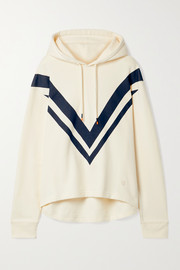 Tory Sport Oversized printed French cotton-terry hoodie