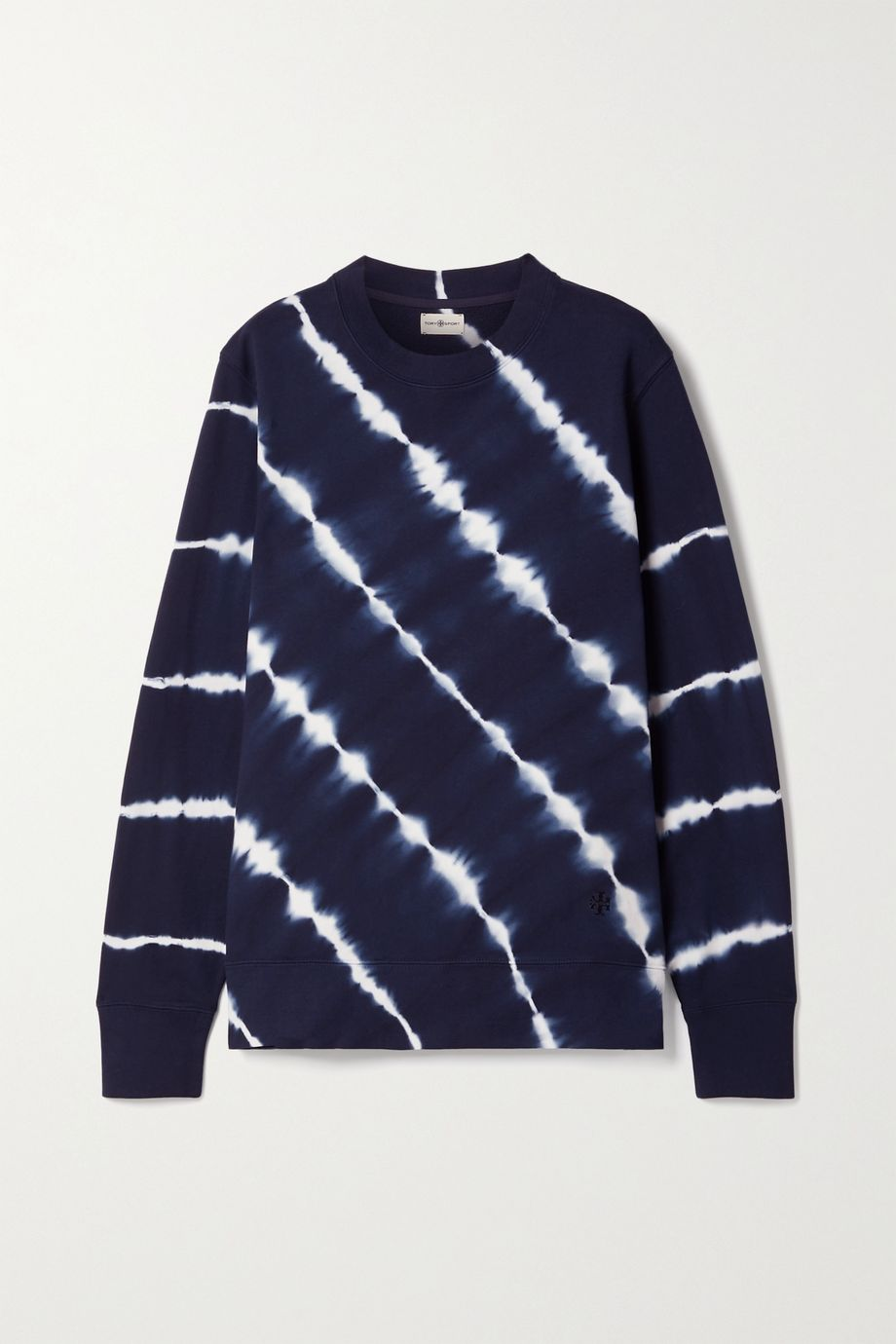 Tory Sport Tie-dyed French cotton-terry sweatshirt