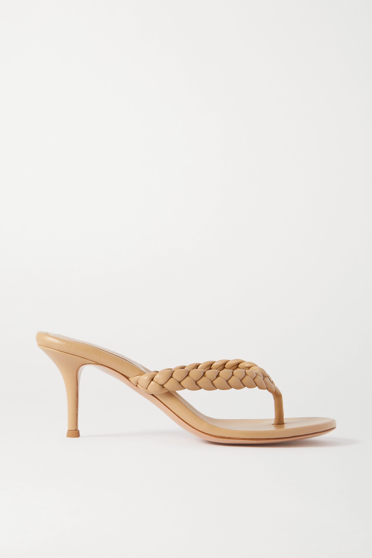 Gianvito Rossi Calypso 70 braided leather sandals