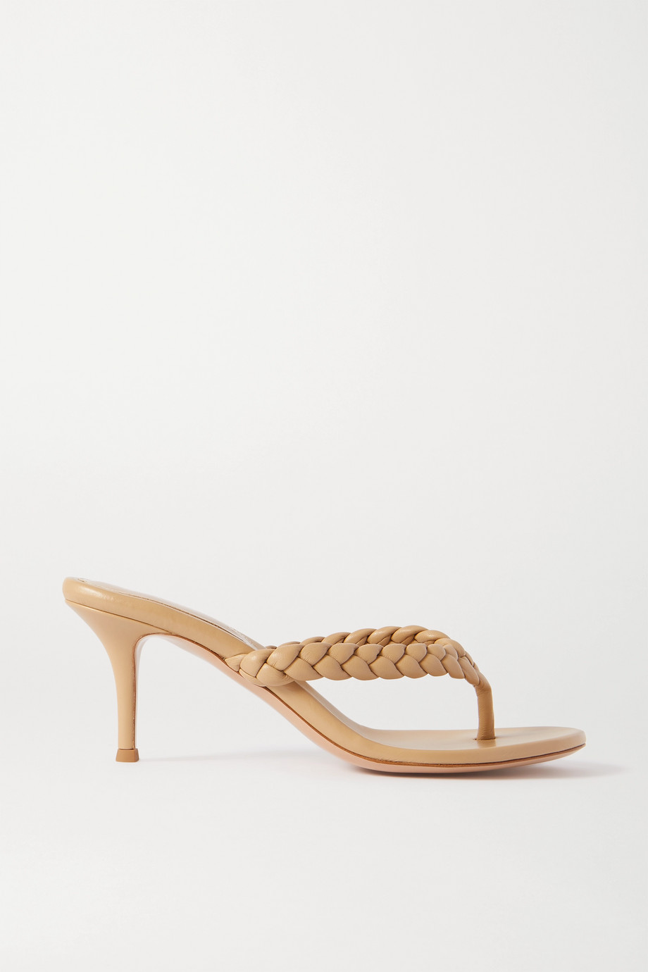 Gianvito Rossi Calypso 70 braided leather sandals