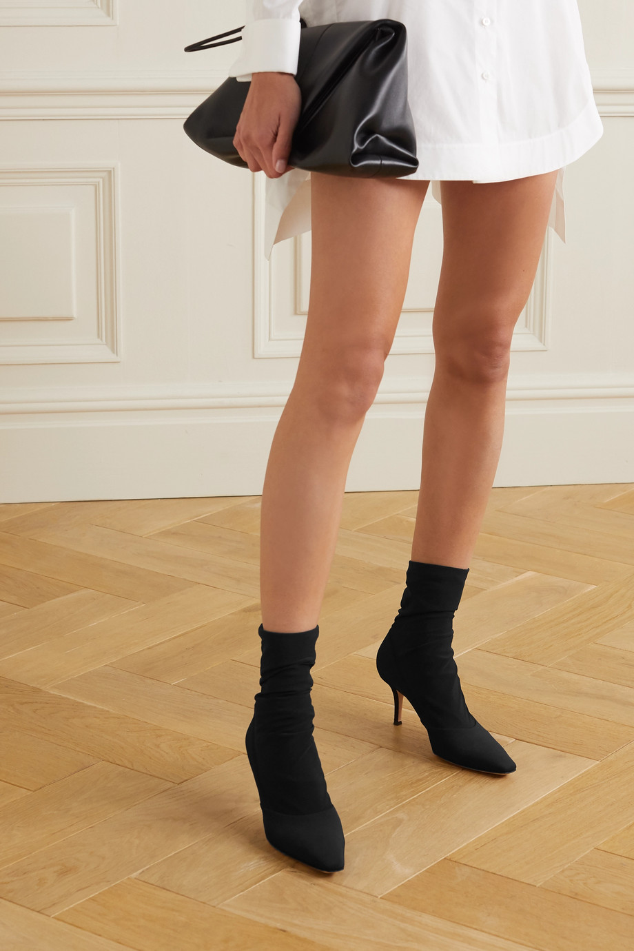 Gianvito Rossi 70 stretch-knit sock boots