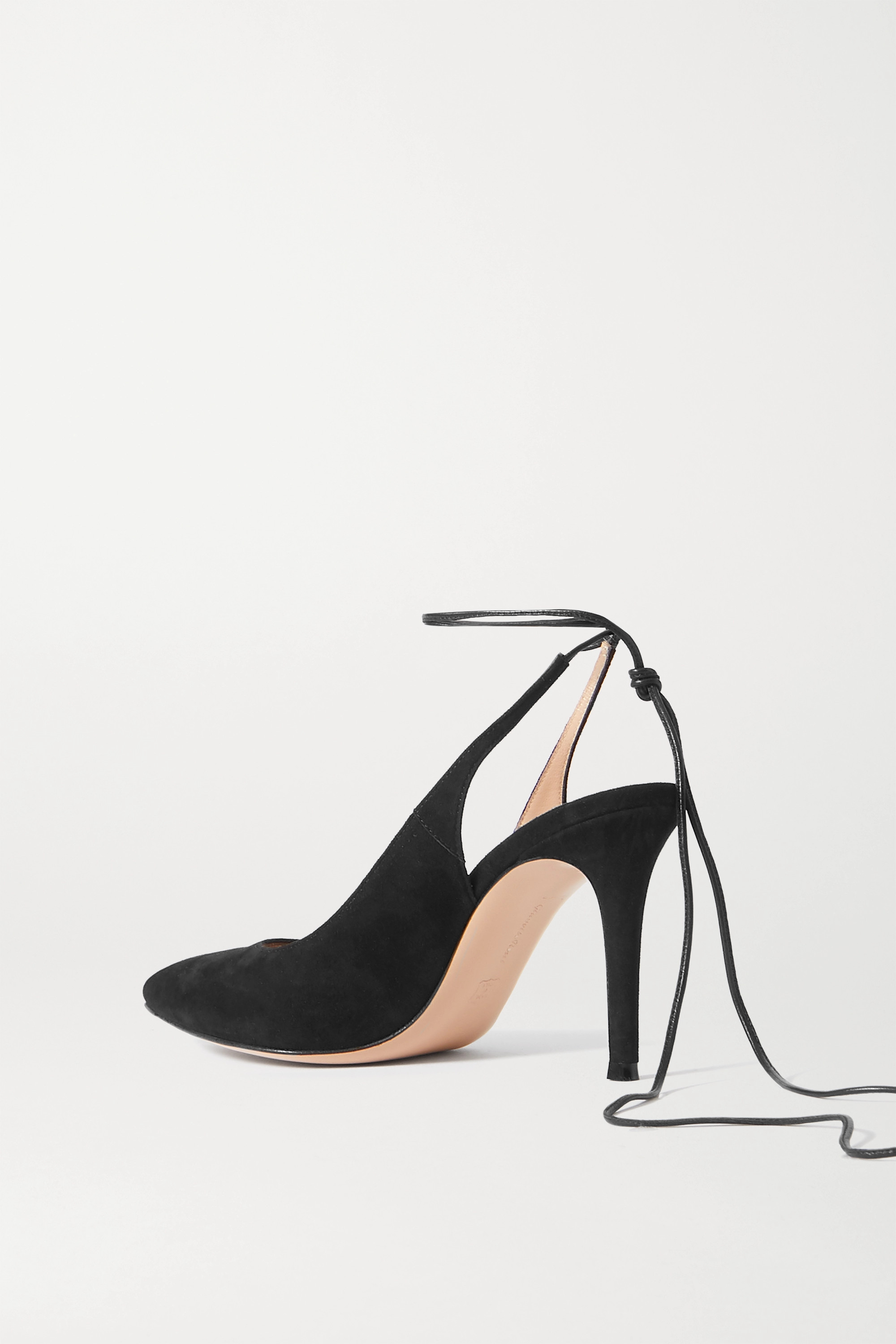 Gianvito Rossi 85 leather-trimmed suede pumps