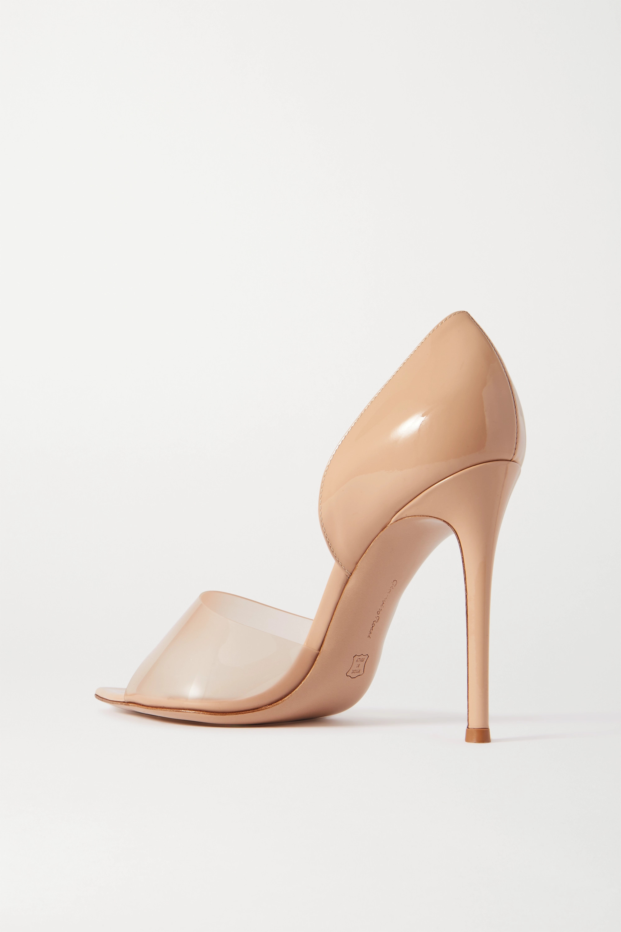Gianvito Rossi Bree 105 PVC-trimmed patent-leather pumps