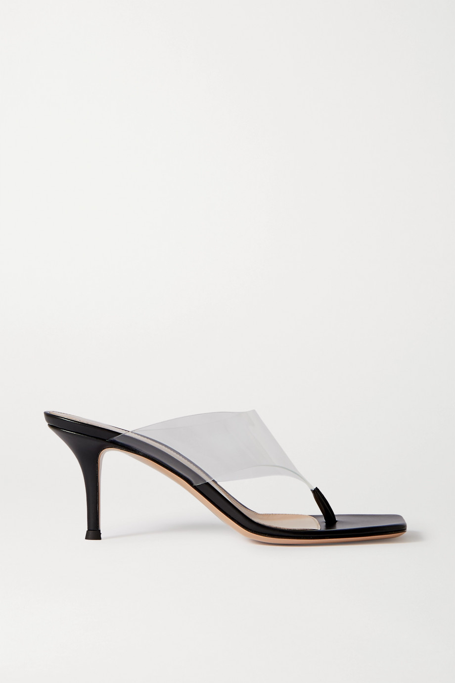 Gianvito Rossi 70 leather and PVC sandals