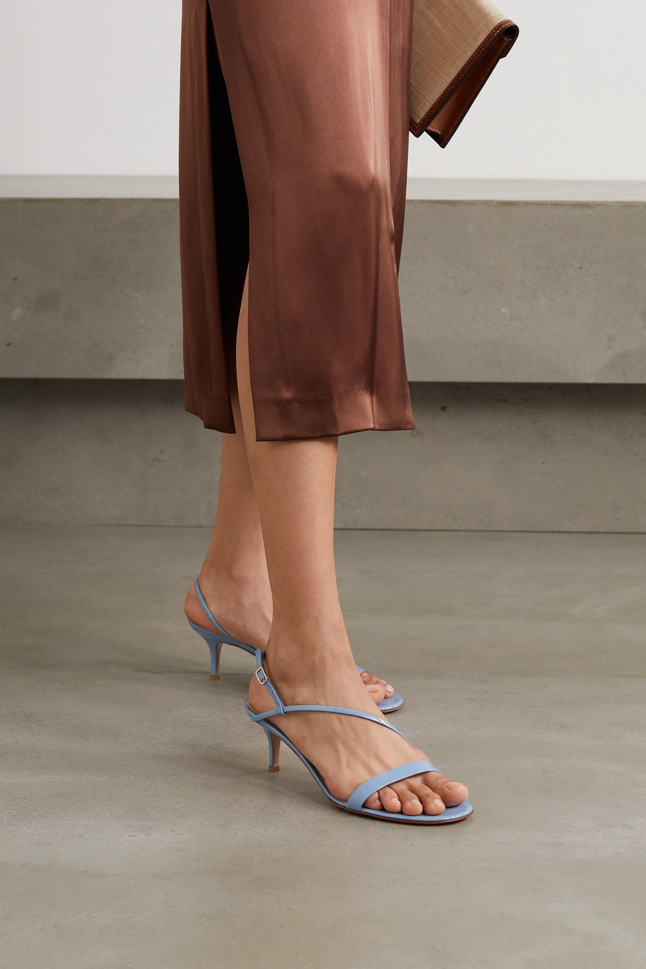 Gianvito Rossi Manhattan 55 patent-leather sandals
