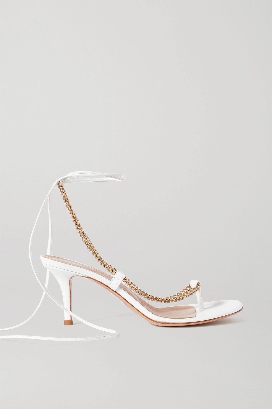Gianvito Rossi 70 chain-embellished leather sandals