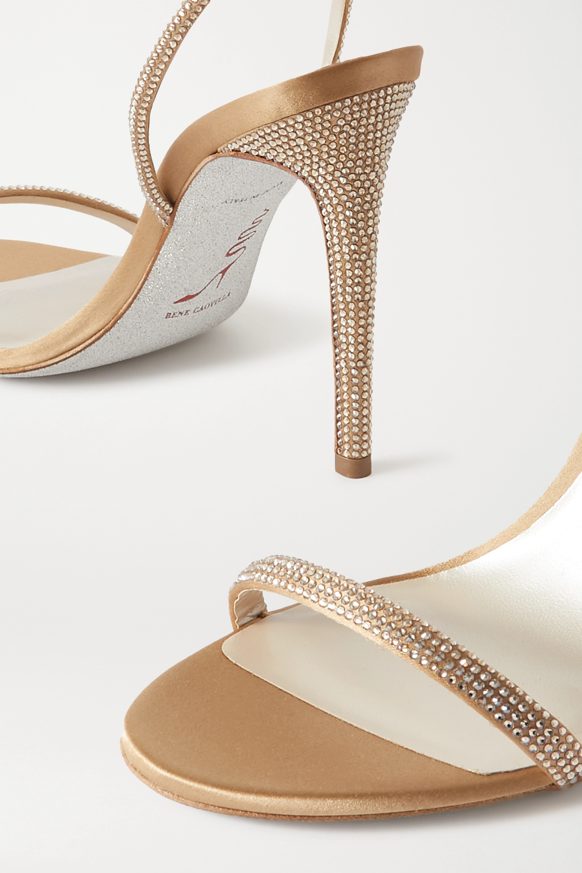 René Caovilla Crystal-embellished satin sandals