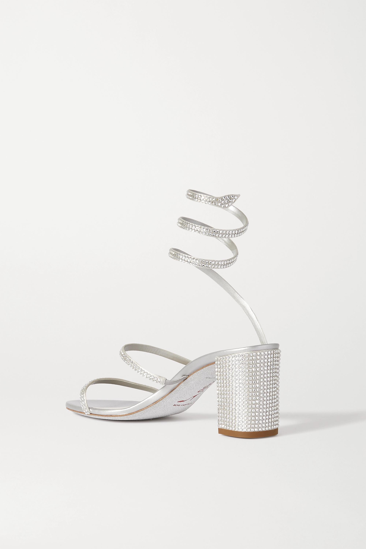 Silver Cleo Crystal-embellished Satin Sandals | René Caovilla