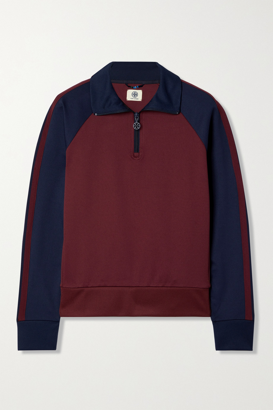 Tory Sport Two-tone tech-jersey track jacket