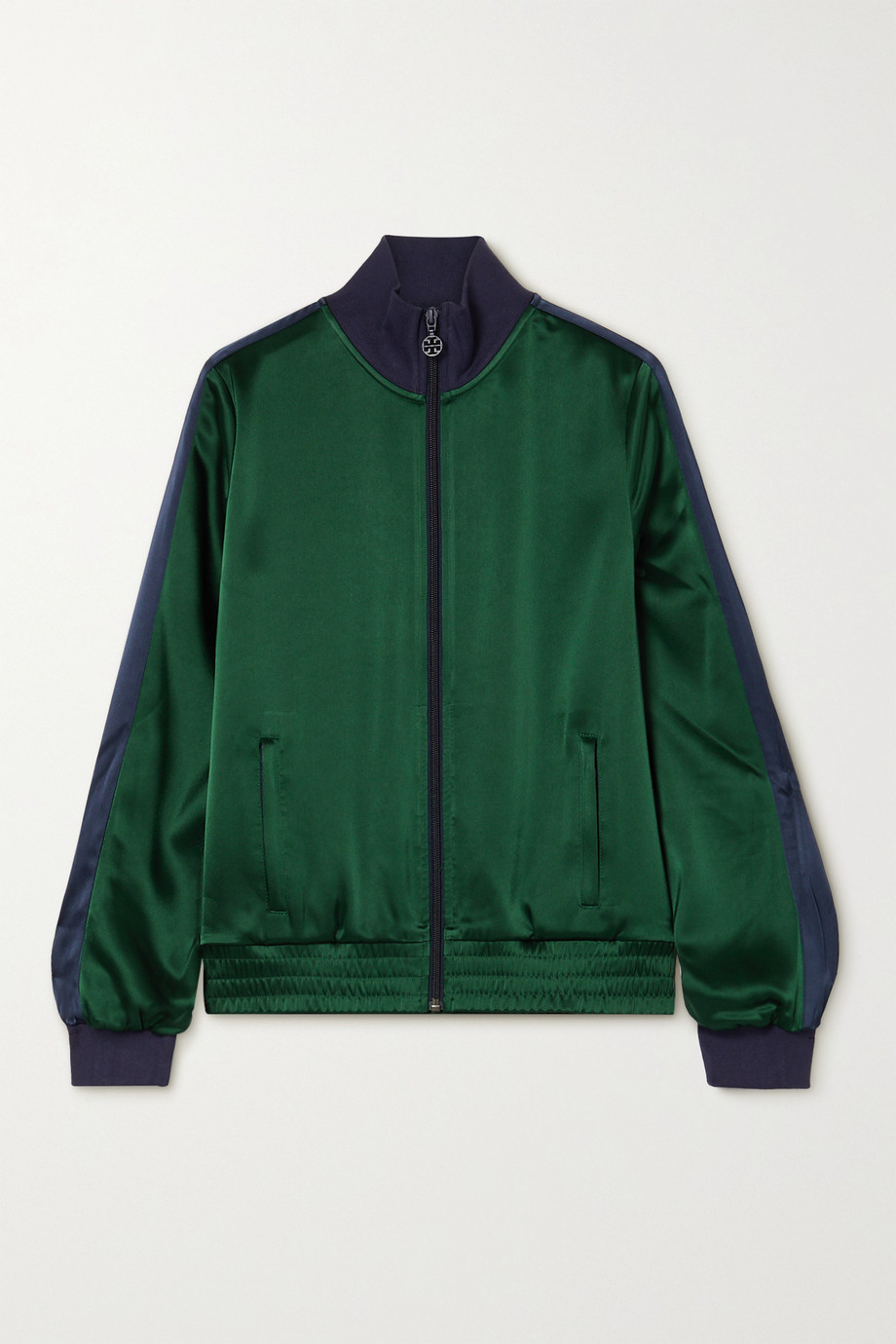 Tory Sport Striped satin track jacket